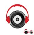 speaker with headphones vector image