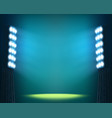 stadium lights against dark night sky background vector image