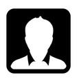 user icon man person symbol profile avatar sign vector image