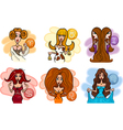 horoscope zodiac signs with women vector image