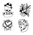 Old vintage tattoo vector image