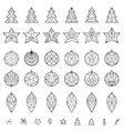 Christmas decoration elements vector image vector image