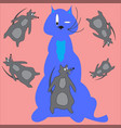 cat and rat vector image