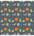Colorful Textile Halloween Fun Pattern vector image vector image