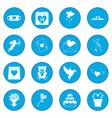 valentines icon blue vector image