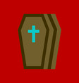 flat icon stylish background coffin vector image