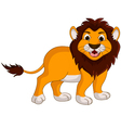 cute lion cartoon smiling vector image vector image