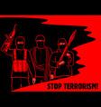 Stop terrorism poster vector image