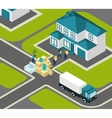 People Relocating Isometric vector image