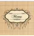 vintage menu vector image vector image