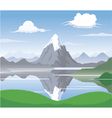 Mountain Scape vector image vector image