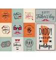 Happy fathers day wishes background lettering vector image