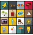Miami icons set flat style vector image