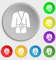 Bathrobe icon sign Symbol on eight flat buttons vector image