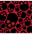 black and red human skull seamless pattern eps10 vector image