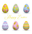 decorative easter eggs easter scenethe main vector image