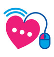 icon for on line dating vector image