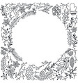 merry christmas floral sketch background vector image