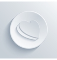 modern light circle icon vector image