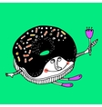 Nice comic cartoon character of donut vector image