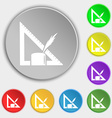 Pencil and ruler icon sign Symbol on eight flat vector image