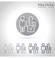 Politics outline icon vector image