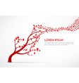 005 Heart Tree element for valentine day and vector image