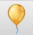 Gold balloon vector image