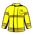 firefighter jacket icon icon cartoon vector image