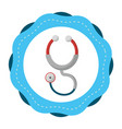 sticker stethoscope medical tool revision vector image
