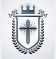 heraldic sign element heraldry emblem insignia vector image