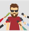 reporters in live breaking vector image