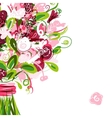 Floral postcard with place for your text vector image