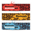 electronic banners set vector image