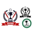 Baseball badges or emblems vector image vector image