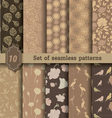 nature style seamless patterns vector image vector image
