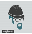 icons engineer hairstyles beard and mustache vector image vector image