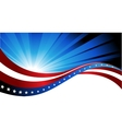 American flag abstract background of the vector image