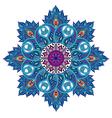 Round mandala vector image