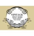 Vintage Beige Frame vector image