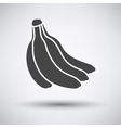 Banana icon on gray background vector image