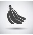 Banana icon on gray background vector image