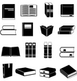 Books icons set vector image