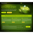 Green website template vector image