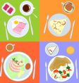 meal dishes vector image