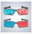 Polygon 3D glasses vector image