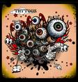 Tattoos eye explosion vector image