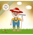 Young gardener who cares for flowers vector image
