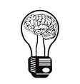 brain light bulb vector image vector image