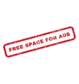 Free Space For Ads Text Rubber Stamp vector image